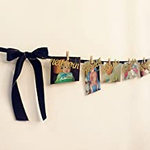 First Birthday Decorations-Monthly Milestone Photo banner for Newborn to 12 months.Perfect for 1 Year old Celebration, Baby Shower Gift (Black)