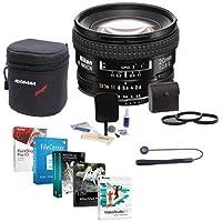 Nikon 20mm f/2.8D ED AF NIKKOR Lens, USA Warranty - Bundle w/62mm Filters & Pro Software