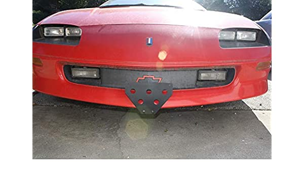 Removable Front License Plate Bracket 1995-1997 Chevy Camaro Coupe /& Convertible