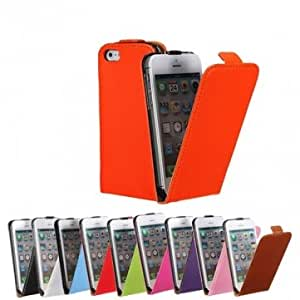 Magnetic PU Leather Protective Vertical Flip Case Cover For iPhone 5 --- Color:Green