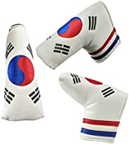 Foretra - Limited Edition Korea Flag Golf Putter Headcover Quality PU Leather Magnetic Closure for Blade Style