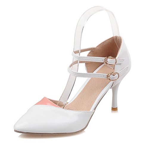LongFengMa Women Sexy Stiletto High Heel Sandals Office Dress Shoes White myP3Zw