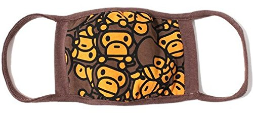 J*myi Fashion A Bathing Ape Bape Shark Black Face Mask Camouflage Mouth-muffle BAPE Cover