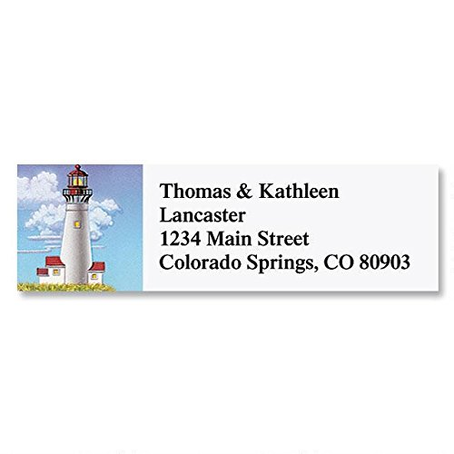 - Lighthouses Self-Adhesive, Flat-Sheet Classic Address Labels (6 Designs)