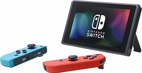 Nintendo Switch Bundle: 32GB Console Red and Blue Joy-Con, Nintendo Switch Wheel (set of two), Deluxe Travel Case and Mario Kart 8 Deluxe Edition Video Game