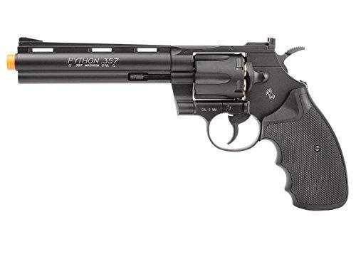 colt python co2 airsoft revolver, 6, black airsoft gun(Airsoft Gun)