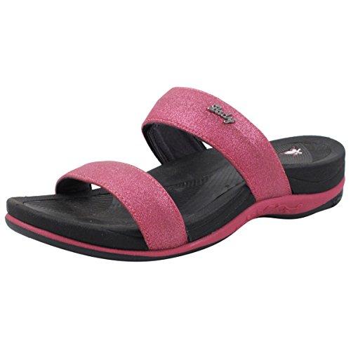 Fuchsia Slides - Gold Pigeon Shoes GP6875 Slide Sandals: 8538 Fuchsia, EU38