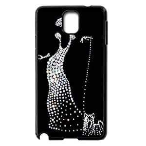 Silver Bling Custom Cover Case for Samsung Galaxy Note 3 N9000,diy phone case ygtg592052