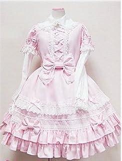 aeb25fac7 ゴスロリィタ Lolita ロリータ服 衣装 洋服 COSMAMA LLTLZY0069 ピンクとホワイト 袖の取り外しが可能 長袖 ・半袖の両方で着まわせる…