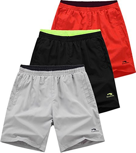 Mens GYM Bodybuilding Workout Sport Shorts 3pack #1 - Running Without Liner Shorts