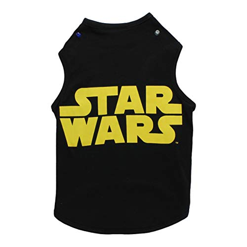 Star Wars Black & Yellow Logo Dog Tank | Star Wars Dog Shirt for Small Dogs | X-Small