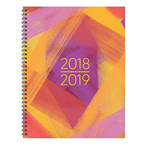 - TF Publishing 19-9704A July 2018 - June 2019 Painted Colors Large Weekly Monthly Planner, 9 x 11