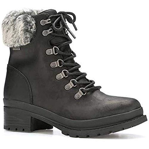 - Muck Boot Women's Liberty Alpine Lace Supreme Black Full-Grain Leather Boots 8