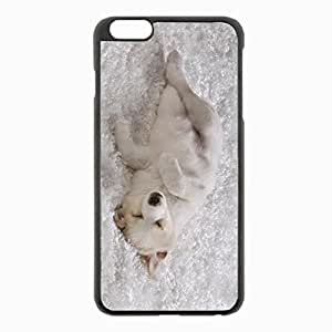 iPhone 6 Plus Black Hardshell Case 5.5inch - shaggy rug dog puppy Desin Images Protector Back Cover