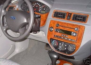 FORD FOCUS INTERIOR BURL WOOD DASH TRIM KIT SET 2005 2006 2007