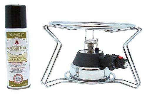 Bella Tavola BT-4601KF Fondue Chafing Burner,Cooking Platform,Butane, Silver by Bella Tavola