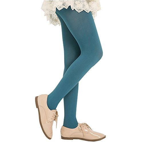 (KoolFree Microfiber Opaque Solid Color Stretchy Pantyhose Tights (pine green))