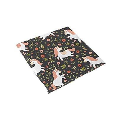 Bardic FICOO Home Patio Chair Cushion Animal Unicorn Flower Square Cushion Non-Slip Memory Foam Outdoor Seat Cushion, 16x16 Inch: Home & Kitchen