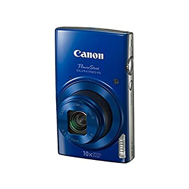 Canon PowerShot ELPH 190 Digital Camera w/10x Optical Zoom and Image Stabilization Wi-Fi & NFC Enabled (Blue)