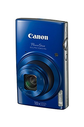Canon PowerShot ELPH 190 Digital Camera w/ 10x Optical Zoom and Image Stabilization - Wi-Fi & NFC Enabled (Blue) (Best Compact Travel Zoom Camera 2019)