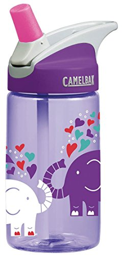 CamelBak Kids Eddy Water Bottle, 0.4 L, Elephant Love (Best No Leak Water Bottle)