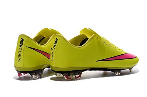 Generic Herren Mercurial Vapor X FG gelb Low Fußball Schuhe Fußball Stiefel