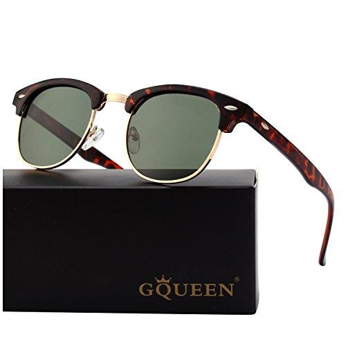 Medio Bocina GQUEEN 1 marco polarizadas sol Verde Turquesa de GQO6 enculado gafas fEwZqHw