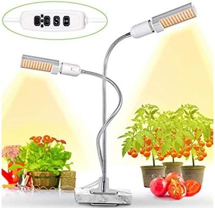 双頭植物成長ランプ、LED10Wフルスペクトル360°回転照明モードタイマの3種類、屋内植物