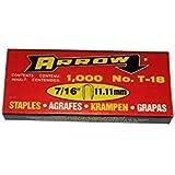 "T-18 T18 7/16"" Arrow round crown staples 1000"