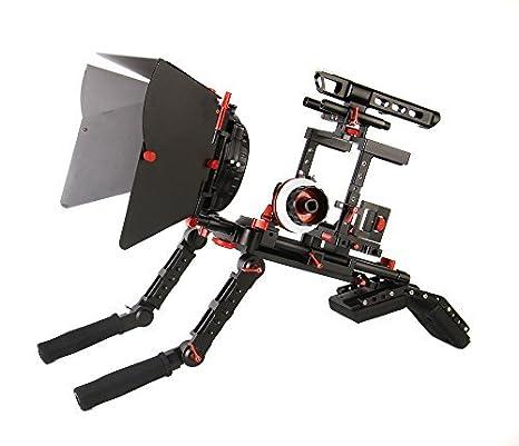 came-tv jaula para cámara réflex digital con agarre de mano hombro ...