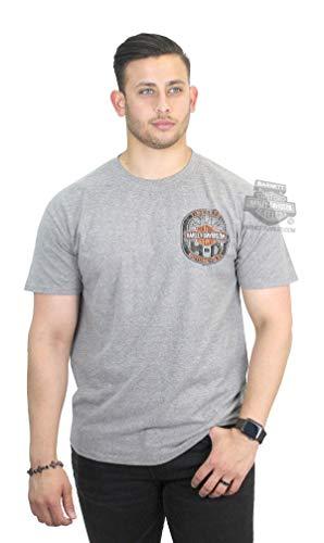 - Harley-Davidson Mens Timeless Stamp Long B&S Grey Short Sleeve T-Shirt (4X)