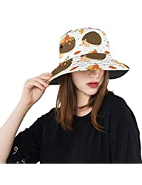 Menedo Beach Hat Summer Lightweight Bucket Hat Fierce Hedgehog Bright-Colored Reversible Outdoor Hats Travel Fishing Hunting Caps for Women Girls