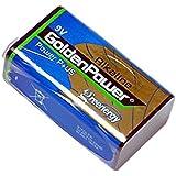 【1個単品】9Vアルカリ乾電池【006P/6F22】9ボルト角型アルカリ電池/ラジオ/防災/バッテリー【水銀0使用】