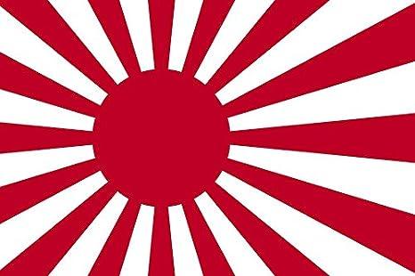 3 x 5 bandera de Japón sol Naciente japonés guerra Banner pabellón Imperial banderín nueva segunda guerra mundial: Amazon.es: Jardín