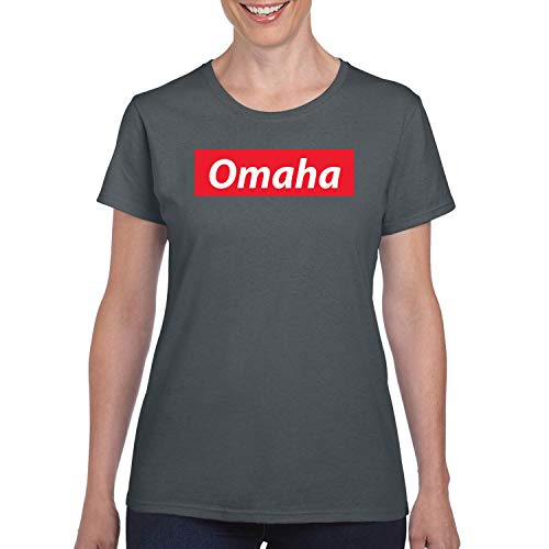 Red Box Logo Omaha City Pride Womens Graphic T-Shirt, Charcoal, XX-Large]()