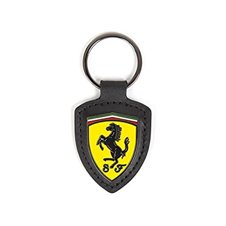 Amazon.com  Scuderia Ferrari Formula 1 Authentic 2018 Leather Shield  Keychain  Sports   Outdoors 66c31273e1