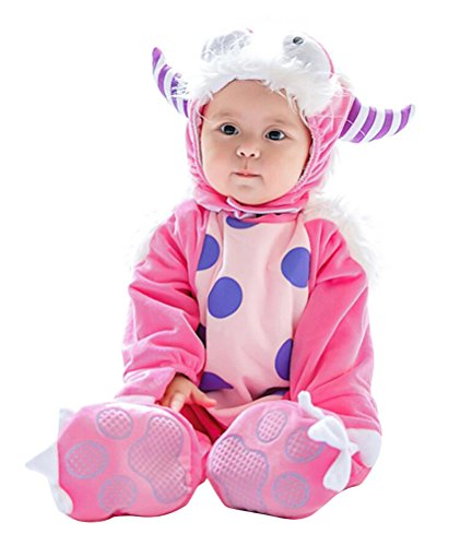 Baby Animal Costume, Deluxe Cute Toddler Halloween Animal Cosplay Outfit Infant Photography Prop (Tag Size 100 cm, Pink Elf)