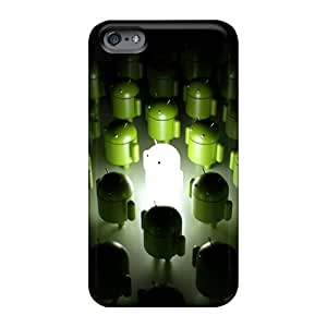Shockproof Hard Cell-phone Cases For Apple Iphone 6 With Customized Vivid Android Logo 3d Series TraciCheung