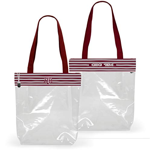 Desden Texas A&M Clear Gameday Stadium Tote Bag -ONE Bag (Front and Back Shown)
