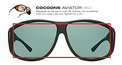 60d7f4ff8f Cocoons Fitovers Polarized Sunglasses Aviator (XL)  Amazon.ca  Clothing    Accessories