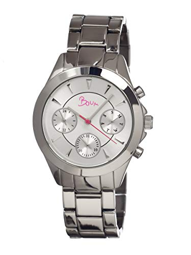 Boum Baiser Quartz Metal Bracelet Watch with Day Date