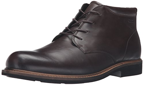 ECCO Men's Findlay Plain Toe Chukka Boot, Coffee, 41 EU/7-7.5 M (Ecco Nubuck Boots)