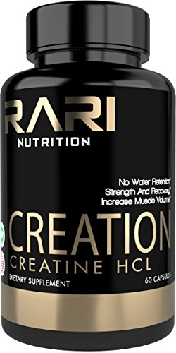 RARI Nutrition - Creatine Capsules - CREATION 100% Creatine HCL for Muscle, Size, and Strength - Natural - Easy to Swallow Vegetable Capsules - 60 Count