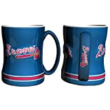Atlanta Braves Coffee Mug - 14oz Sculpted Relief