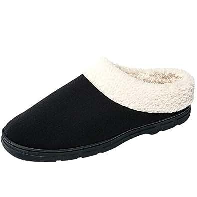 Amazon.com | SITAILE Slippers Men, Memory Foam Mens Fuzzy