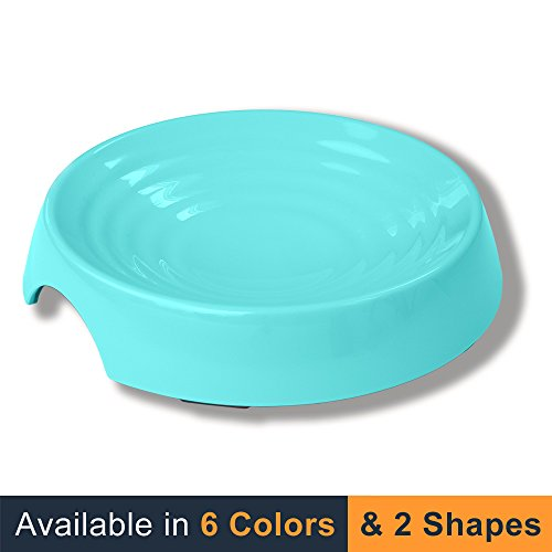 NEW! CatGuru Premium Whisker Stress Free Cat Food Bowl, Reliefs Whisker Fatigue, Wide Cat Dish, Non Slip Cat Feeding Bowls, Shallow Cat Bowls, Non Skid Pet Bowls For Cats, Round, Aruba