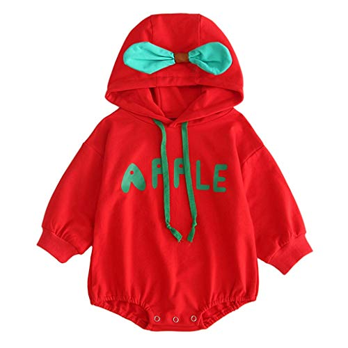 Mayunn Infant Baby Boys Girls Cotton Leaf Thick Warm Hooded Romper Bodysuit Outfits Sets Clothes (3Months-30Months) (Body Shop Body Wash For Dry Skin)