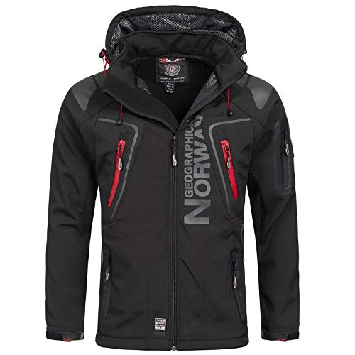 Hombre Negro Chaqueta Norway para Geographical WOUP7z