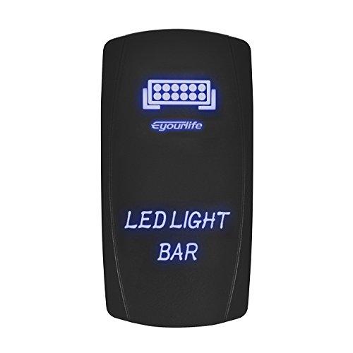 LED Backlit Rocker Switch,Eyourlife Laser LED Light Bar Rock