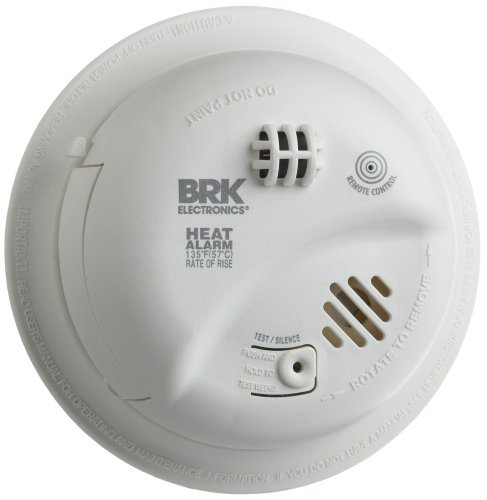 Heat Alarm - BRK Brands HD6135FB Hardwire Heat Alarm with Battery Backup by BRK Brands